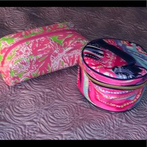 Small Lilly Make up bags. Set of 2